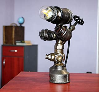 Robot lamp Copper pipe lamp shade Building light fixtures Cabin light fixtures for sale Charleston lanterns lighting Country end table lamps Country industrial lighting