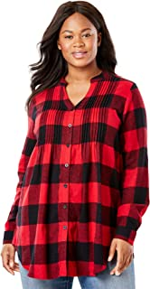 Best women's flannel shirt plus size Reviews