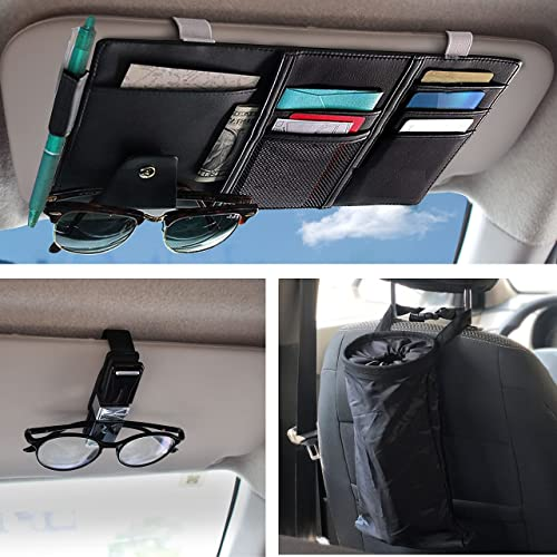 wholesale EcoNour Gift Bundle   Car Sun high quality Visor Organizer + Sunglasses Holder high quality for Car (4 Pack) + Car Trash Bag (2 Pack)   Auto Interior Accessories   Sunglass Visor Clip with Ticket & Card Holder outlet sale