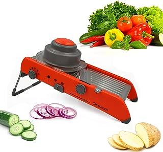 Ultimate Mandoline Slicer   4 Adjustable Slicing Thicknesses   Dishwasher Safe   Free eBook recipe
