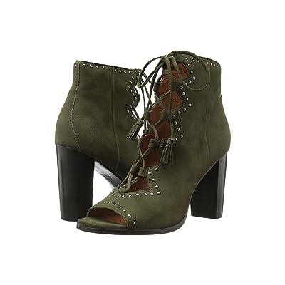Frye Gabby Ghillie Stud (Forest Suede) High Heels