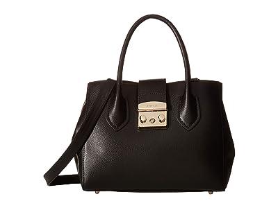 Furla Metropolis Small Tote (Onyx) Tote Handbags