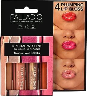 Palladio Plump 'N' Shine Lip Gloss, 4.3 ounce, 4 Count