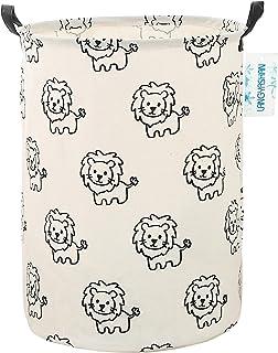 LANGYASHAN Storage Bin,Canvas Fabric Collapsible Organizer Basket for Laundry Hamper,Toy Bins,Gift Baskets, Bedroom, Cloth...