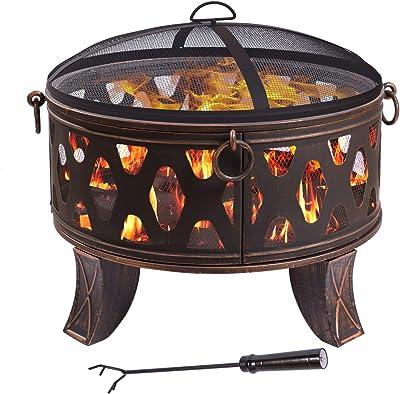 Feuerschale 70x60,5cm Feuerkorb Feuerstelle Grillschale Grillfeuer Grill Garten