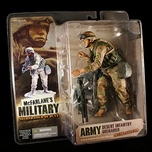 ARMY DESERT INFANTRY GrünADIER  ASIAN AMERICAN VARIATION  McFarlane's Military Second Tour of Duty Action Figure & Display Base by McFarlanes Military