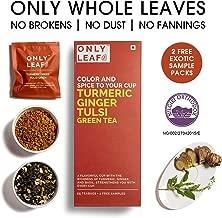 Onlyleaf Turmeric Ginger Tulsi Green Tea, 27 Tea Bags (25 Tea Bags + 2 Free Exotic Samples)