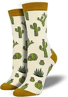 Women's King Cactus Novelty Bamboo Crew Socks