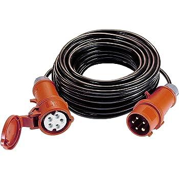 PCE 47451 H07RN-F5G Rallonge /électrique CEE /à 5 broches 1,5 mm/² 16 A 10 m