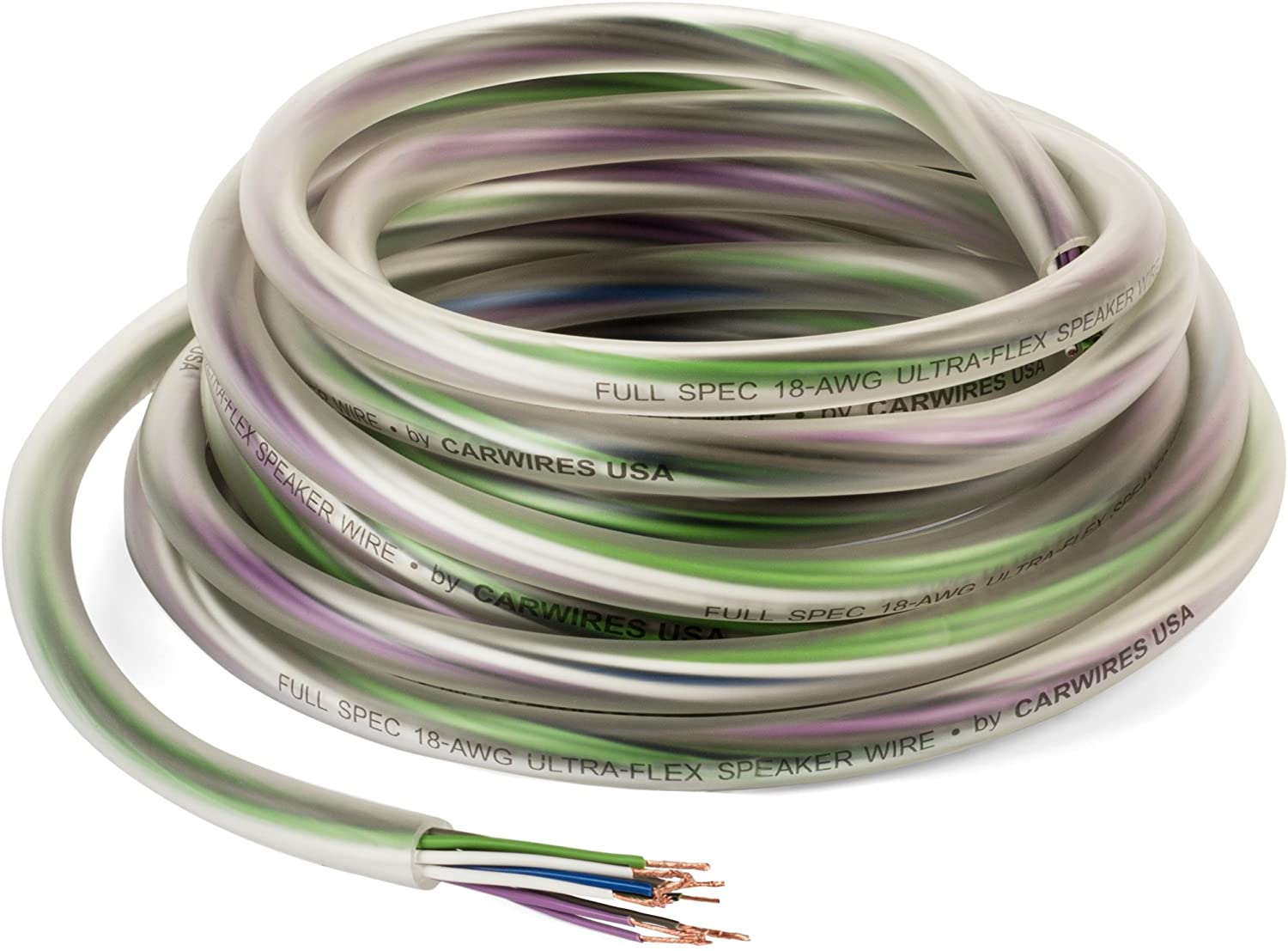Carwires 9-AWG 9 Wire Car Speaker Wire (9 Feet / 9.9 Meters) True Spec,  Soft Touch Color-Coded Cable with Polarity Markings. Great for Car Speaker