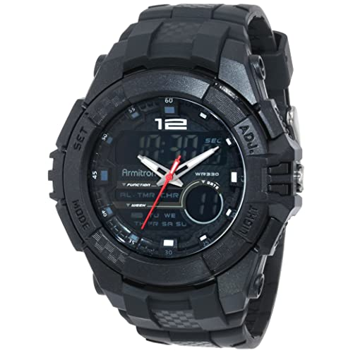 Armitron Sport Mens 20/4942 Analog-Digital Chronograph Resin Strap Watch