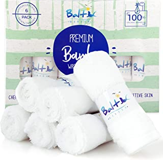 Baby Washcloths – Hypoallergenic Organic Bamboo Towel, Ultra Soft and Absorbent, Natural Reusable Wipes Perfect for Sensitive Skin and Newborn Bath, Ideal Baby Registry and Baby Shower Gift.