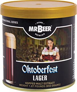 Mr. Beer Oktoberfest Lager 2 Gallon Homebrewing Refill, Brown