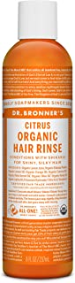 Dr. Bronner's Fair Trade & Organic Hair Conditioning Rinse - Citrus Orange, 8 Ounce