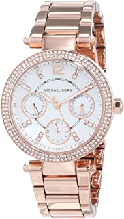 Michael Kors Womens Quartz Watch, Analog Display and Stainless Steel Strap MK5616
