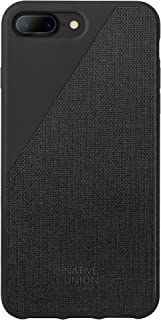 Native Union CLIC Canvas Case - Drop-Proof Protective Cover Made with Premium Woven Fabric for iPhone 7 Plus, iPhone 8 Plus (Black)