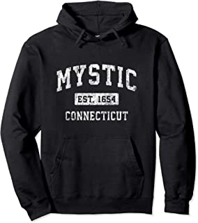 Mystic Connecticut CT Vintage Established Sports Design Pullover Hoodie
