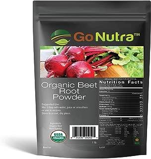Pure Beet Root Powder Non-GMO Raw Gluten-Free Natural Nitrates 1lb (16 Ounces)