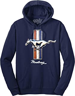 Tee Luv Ford Mustang Hoodie - Navy Blue Hooded Ford Sweatshirt