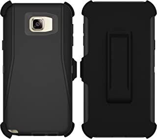 Galaxy Note 5 Case, ToughBox [Armor Series] [Shock Proof] for Samsung Galaxy Note 5 Case [Built in Screen Protector] [Holster & Belt Clip] [Fits Otterbox Defender Series Belt Clip] (Black)