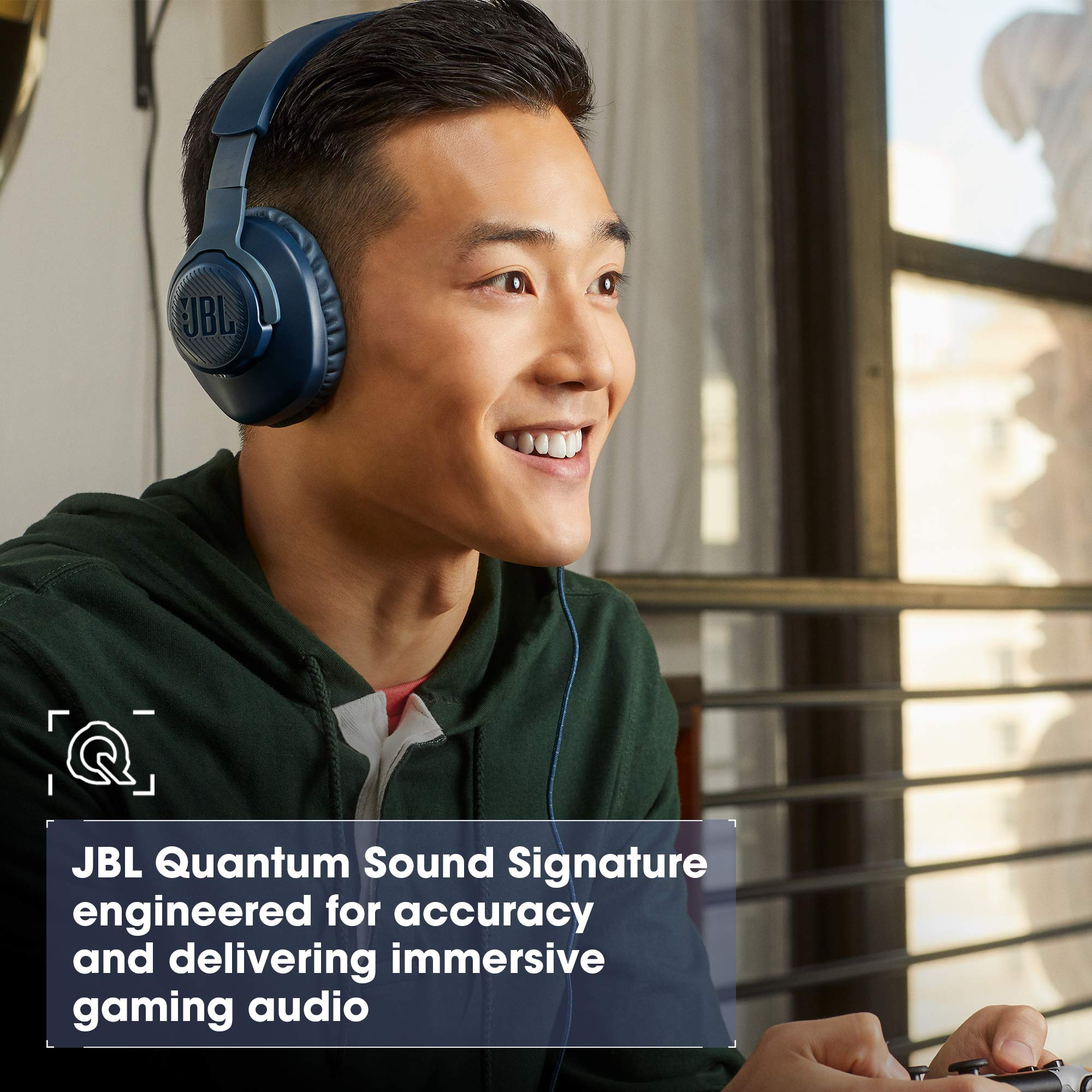 Amazon Com Jbl Quantum 100 Wired Over Ear Gaming Headphones Black Electronics