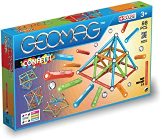 Geomag 353 Confetti Magnetic Construction Set, 88-Pieces