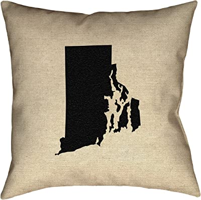 ArtVerse Katelyn Smith 26 x 26 Poly Twill Double Sided Print with Concealed Zipper /& Insert Michigan Love Watercolor Pillow