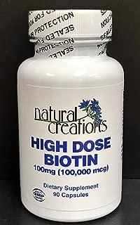 High Dose Biotin 100mg (100,000mcg)