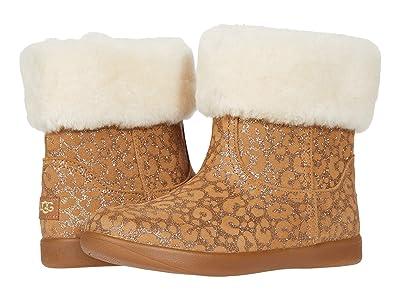 UGG Kids Jorie II Glitter Leopard (Toddler/Little Kid) (Chestnut) Girls Shoes