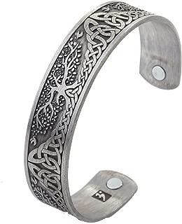 YGGDRASIL World Tree of Life Bracelet Health Care Stainless Steel Cuff Bangle Bracelet for Men