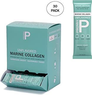 Collagen Peptides Joint Health Supplement: Unflavored Drink Mix Powder - Structure & Function Booster - Supplements Protein Production for Strong Healthy Bones (Marine, 30 Pack)