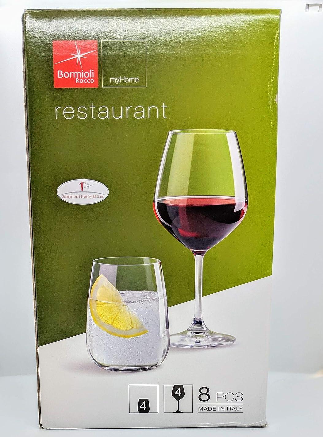 花弁重力最も遠いBormioli Rocco レストラン用ガラス8点セット クリア