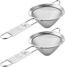 "Homestia Cocktail Barware Stainless Steel Conical Mesh Strainer 3.15""(Dia) 8.27""(L) Silver 2"
