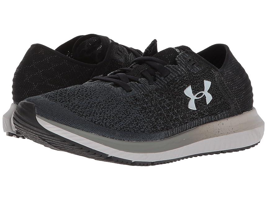 隔離の前で現実的(アンダーアーマー) UNDER ARMOUR レディースランニングシューズ?スニーカー?靴 UA Threadborne Blur Black/Anthracite/Overcast Gray 9.5 (26.5cm) B - Medium