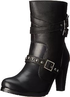 """AdTec Women's 10"""" Three Buckle Boot Black Work Boot"""