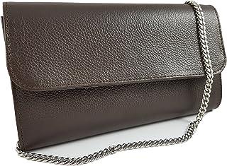 Freyday Echtleder Damen Clutch Tasche Abendtasche Muster Metallic 25x15cm C01