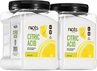 Roots Circle All-Natural Citric Acid | Food-Grade Flavor Enhancer, Household Cleaner & Preservative | Non-GMO, Kosher for ...