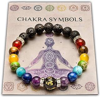 WICCSTAR Pulsera Doble de 7 Chakras Joyas curativas de