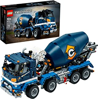 LEGO Technic Concrete Mixer Truck 42112 Building Kit, Kids Will Love Bringing The Construction Site to Life with This Cool...