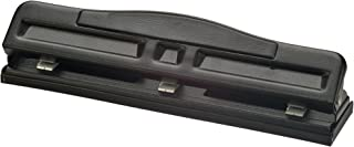 Officemate Adjustable 2-3 Hole Punch with Padded Handle, 11 Sheet Capacity, Black (90085)