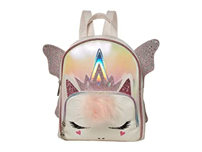 OMG! Accessories Metallic Fairy Queen Mini Backpack (White) Backpack Bags