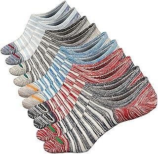 Calcetínes del Tobillo Calcetines Cortos Sneaker de Deporte Hombre Invisibles Antideslizantes Respirable Calcetín Algodón Low Cut Barco Calcetines (Style C)