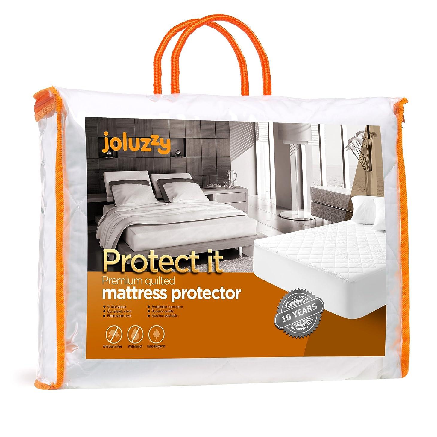 サドル乗り出す覆す(Twin) - Best Quality Quilted Waterproof Mattress Pad Twin Size By Joluzzy, Hypoallergenic Cotton Mattress Protector, Vinyl-free, 10-Year-Warranty
