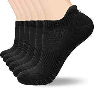 coskefy Sports Socks Cushioned Running Socks Trainer Socks for Men Women Cotton Ankle Socks Low Cut Athletic Walking Socks...