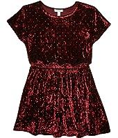Studded Velour Dress (Big Kids)