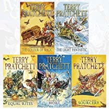 Terry pratchett discworld novel series 1 :1 to 5 books collection set (the colour of magic, the light fantastic, equal rit...