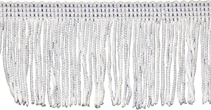 Chainette Fringe 10-Yard Polyester Fringe Rolls for Arts and Crafts, 2-Inch Long, White