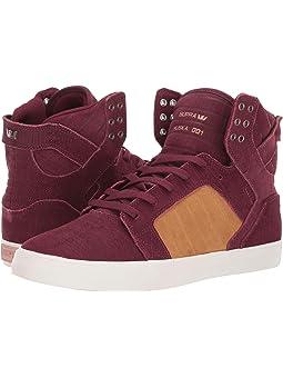 Men's High Tops Burgundy Shoes + FREE