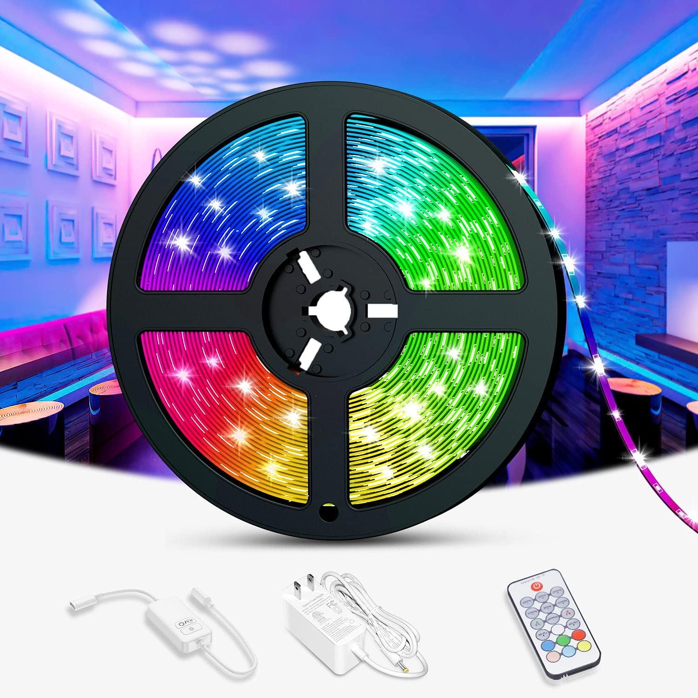 RGB Led Light Strips for 4 years warranty 2021 model 5050 Bedroom Flexible Dekala 16.4ft