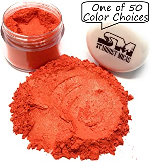 Stardust Micas Soap Making Pigment Powder Cosmetic Grade Colorant for Makeup, Epoxy Resin, DIY Crafting Projects, Bright True Colors Stable Mica Batch Consistency Orange Saffron